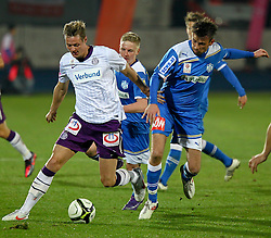 17.03.2012, Stadion, Wiener Neustadt, AUT, 1. FBL, SC Wiener Neustadt vs FK Austria Wien, im Bild Mario Reiter, (SC Magna Wiener Neustadt, #23) Roman Kienast, (FK Austria Wien, #42) // during the Austrian Bundesliga Match, SC Wiener Neustadt against FK Austria Wien, Stadium, Wiener Neustadt near Vienna, Austria on 2012-03-17, EXPA Pictures © 2012, PhotoCredit: EXPA/ S. Woldron