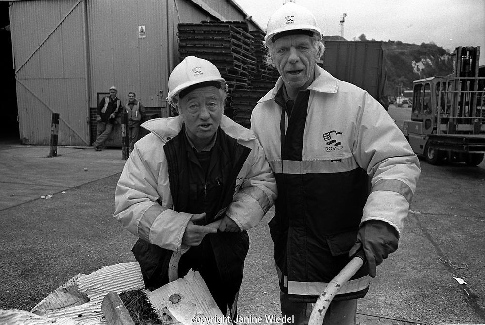Dock workers for Cross Channel Ferries