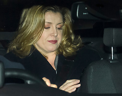 © Licensed to London News Pictures. 15/11/2018. London, UK. Secretary of State for International Development PENNY MORDAUNT is seen being driven from the Houses of Parliament in London following multiple resignations from cabinet over a proposed Brexit deal.. Photo credit: Ben Cawthra/LNP