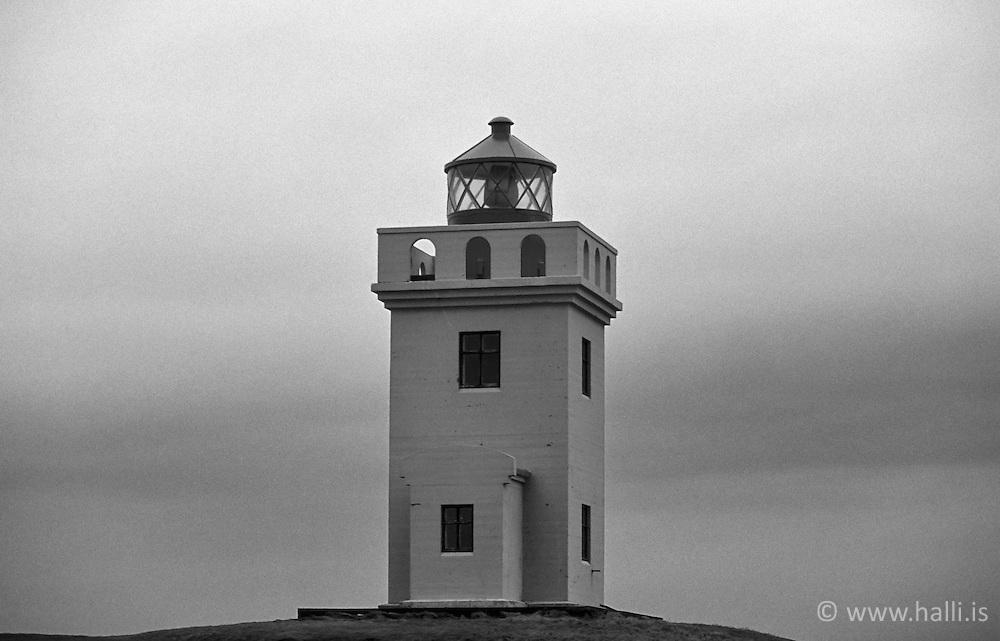 Lighthouse at the island Grimsey, north of Iceland / Vitinn í Grímsey