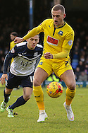 Lewis Alessandra of Plymouth Argyle during the Sky Bet League 2 match at Roots Hall, Southend<br /> Picture by David Horn/Focus Images Ltd +44 7545 970036<br /> 10/01/2015