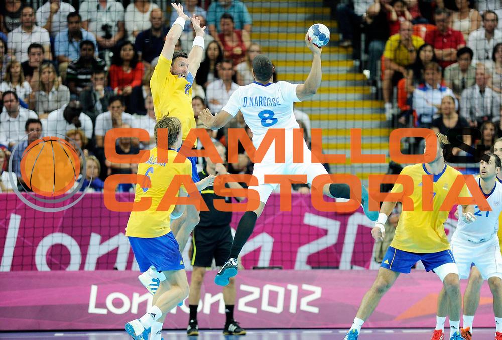 DESCRIZIONE : Handball Jeux Olympiques Londres Finale Homme<br /> GIOCATORE : Narcisse Daniel FRA<br /> SQUADRA : France Homme<br /> EVENTO : Jeux Olympiques<br /> GARA : France Suede<br /> DATA : 12 08 2012<br /> CATEGORIA : Handball Jeux Olympiques<br /> SPORT : Handball<br /> AUTORE : JF Molliere <br /> Galleria : France JEUX OLYMPIQUES 2012 Action<br /> Fotonotizia : Jeux Olympiques Londres Finale Homme<br /> Predefinita :