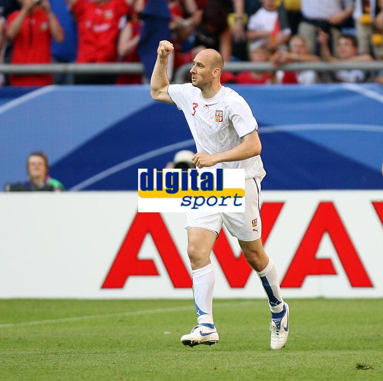 Photo: Chris Ratcliffe.<br /> USA v Czech Republic. Group E, FIFA World Cup 2006. 12/06/2006.<br /> Jan Koller of Czech Republic celebrates scoring the first Czech Republic goal.
