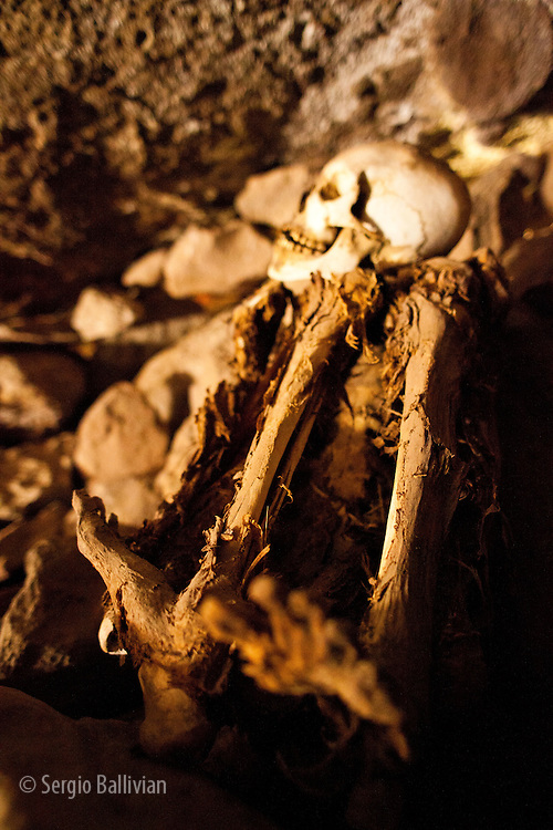 The ancient mummies in the caves above the village of Coquesa, above the Salar de Uyuni in Bolivia's Altiplano.