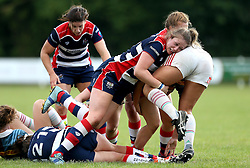 Chantelle Miell of Bristol Ladies makes a tackle - Mandatory by-line: Robbie Stephenson/JMP - 18/09/2016 - RUGBY - Cleve RFC - Bristol, England - Bristol Ladies Rugby v Aylesford Bulls Ladies - RFU Women's Premiership