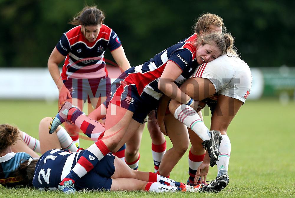Chantelle Miell of Bristol Ladies makes a tackle - Mandatory by-line: Robbie Stephenson/JMP - 18/09/2016 - RUGBY - Cleve RFC - Bristol, England - Bristol Ladies Rugby v Aylesford Bulls Ladies - RFU Women's Premiership