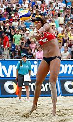 06.08.2011, Klagenfurt, Strandbad, AUT, Beachvolleyball World Tour Grand Slam 2011, im Bild Chen Xue (CRN), EXPA Pictures © 2011, PhotoCredit EXPA Erwin Scheriau
