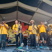 Herbert McCarver & The Pin Stripe Brass Band, New Orleans Jazz & Heritage Festival 2016