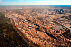 CANADA ALBERTA FORT MCMURRAY 10MAY07 - Aerial view of Suncor Millennium crushing facility north of Fort McMurray, Alberta, Canada. The Alberta Tar Sands are the largest deposits of their kind in the world and their production is the single largest contributor to Canada's greenhouse gas emissions...Alberta's tar sands are currently estimated to contain a crude bitumen resource of 315 billion barrels, with remaining established reserves of almost 174 billion barrels, thus making Canada's oil resources ranked second largest in the world in terms of size...The industry has brought wealth and an economic boom to the region but also created an environmental disaster downstream from the Athabasca river, polluting the lakes where water and fish are contaminated. The native Indian tribes of the Mikisew, Cree, Dene and other smaller First Nations are seeing their natural habitat destroyed and are largely powerless to stop or slow down the rapid expansion of the oil sands development, Canada's number one economic driver...jre/Photo by Jiri Rezac / WWF-UK..© Jiri Rezac 2007..Contact: +44 (0) 7050 110 417.Mobile: +44 (0) 7801 337 683.Office: +44 (0) 20 8968 9635..Email: jiri@jirirezac.com.Web: www.jirirezac.com..© All images Jiri Rezac 2007 - All rights reserved.