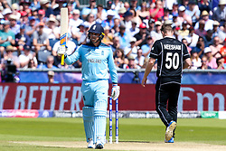 Jason Roy of England celebrates reaching 50 - Mandatory by-line: Robbie Stephenson/JMP - 03/07/2019 - CRICKET - Emirates Riverside - Chester-le-Street, England - England v New Zealand - ICC Cricket World Cup 2019 - Group Stage