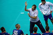 Frederic Trouve trainer coach team of France during the 2013 CEV VELUX Volleyball European Championship match between France and Slovakia at Ergo Arena in Gdansk on September 20, 2013.<br /> <br /> Poland, Gdansk, September 20, 2013<br /> <br /> Picture also available in RAW (NEF) or TIFF format on special request.<br /> <br /> For editorial use only. Any commercial or promotional use requires permission.<br /> <br /> Mandatory credit:<br /> Photo by &copy; Adam Nurkiewicz / Mediasport