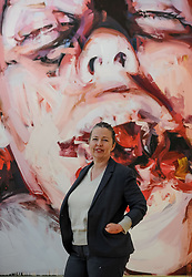 Artist Jenny Saville with some of her works that are going on show for the first time in Scotland at the Scottish National Gallery of Modern Art.<br /> <br /> © Dave Johnston/ EEm