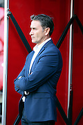 Nottingham Forest Manager Philippe Montanier standing during the EFL Sky Bet Championship match between Brentford and Nottingham Forest at Griffin Park, London, England on 16 August 2016. Photo by Matthew Redman.