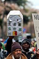 Roma, 19 Gennaio 2012.Movimenti per il diritto all'abitare manifestano contro gli sgomberi e la svendita degli spazi pubblici..