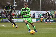 Forest Green Rovers Junior Mondal(25) runs forward during the EFL Sky Bet League 2 match between Forest Green Rovers and Yeovil Town at the New Lawn, Forest Green, United Kingdom on 16 February 2019.