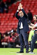 Belgium Manager Roberto Martinez applauds the fans during the UEFA European 2020 Qualifier match between Scotland and Belgium at Hampden Park, Glasgow, United Kingdom on 9 September 2019.