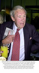 MAJOR BRUCE SHAND father of Camilla Parker Bowles, at a reception in London on 13th June 2001.OPG 24