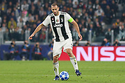Juventus Defender Giorgio Chiellini during the Champions League Group H match between Juventus FC and Manchester United at the Allianz Stadium, Turin, Italy on 7 November 2018.