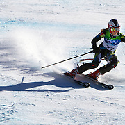 Winter Olympics, Vancouver, 2010.Mona Loeseth, Norway, in action in the Alpine Skiing Ladies Super Combined  during competition at Whistler Creekside, Whistler, during the Vancouver Winter Olympics. 18th February 2010. Photo Tim Clayton