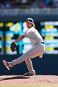 MINNEAPOLIS, MN - APRIL 14: Yu Darvish #11 of the Texas Rangers pitches against the Minnesota Twins at Target Field on April 14, 2012 in Minneapolis, Minnesota. (Photo by Joe Robbins)