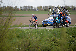 Melissa Lowther (GBR) of Team GB rides ahead of the peloton during the second lap of the Omloop van Borsele - a 107.1 km road race, starting and finishing in s'-Heerenhoek on April 22, 2017, in Borsele, the Netherlands.
