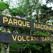Town, of Boquete, Province of Chiriqui, country of Panama. .The Volcan Baru National Park is not only the highest point in the country, but is also part of the La Amistad International Park. Located between Panama And Costa Rica, it is the first Bi-National Biosphere reserve in the world.