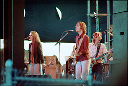 Grateful Dead performing Live at Colt Park Hartford CT 02 August 1976. Donna, Bobby and Phil.