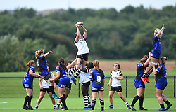 Hollie Cunningham of Bristol Bears Women wins the line-out ball - Mandatory by-line: Paul Knight/JMP - 02/09/2018 - RUGBY - Shaftsbury Park - Bristol, England - Bristol Bears Women v Dragons Women - Pre-season friendly