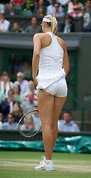 LONDON, ENGLAND - Thursday, June 30, 2011: Maria Sharapova (RUS) in action during the Ladies' Singles Semi-Final match on day ten of the Wimbledon Lawn Tennis Championships at the All England Lawn Tennis and Croquet Club. (Pic by David Rawcliffe/Propaganda)