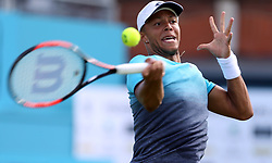 Great Britain's Jay Clarke during day one of the Fever-Tree Championship at the Queens Club, London.