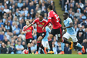 Anthony Martial of Manchester Unitedduring the Barclays Premier League match between Manchester City and Manchester United at the Etihad Stadium, Manchester, England on 20 March 2016. Photo by Phil Duncan.