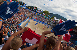04.08.2011, Klagenfurt, Strandbad, AUT, Beachvolleyball World Tour Grand Slam 2011, im Bild Impresionen, EXPA Pictures © 2011, PhotoCredit EXPA Gert Steinthaler