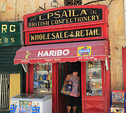 British traditional confectionery shop wholesale and retail in Valletta, Malta