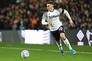 Derby County forward Tom Lawrence (10) during the EFL Sky Bet Championship match between Derby County and Millwall at the Pride Park, Derby, England on 14 December 2019.