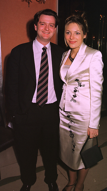 MR & MRS RICHARD TEMPLE she is Bill Kenwright's daughter, at a party in London on 4th February 1999.MOB 11