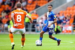 Kyle Bennett of Bristol Rovers takes on Jay Spearing of Blackpool - Mandatory by-line: Robbie Stephenson/JMP - 03/08/2019 - FOOTBALL - Bloomfield Road - Blackpool, England - Blackpool v Bristol Rovers - Sky Bet League One