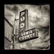 "Charles Blackburn Instagram image of the Public Utilities sign in Prosser, WA. 5x5"" print."