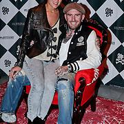 NLD/Amsterdam/20111007 - Presentatie Marc Ecko watches, Ben Saunders en partner Soraya Akhbar