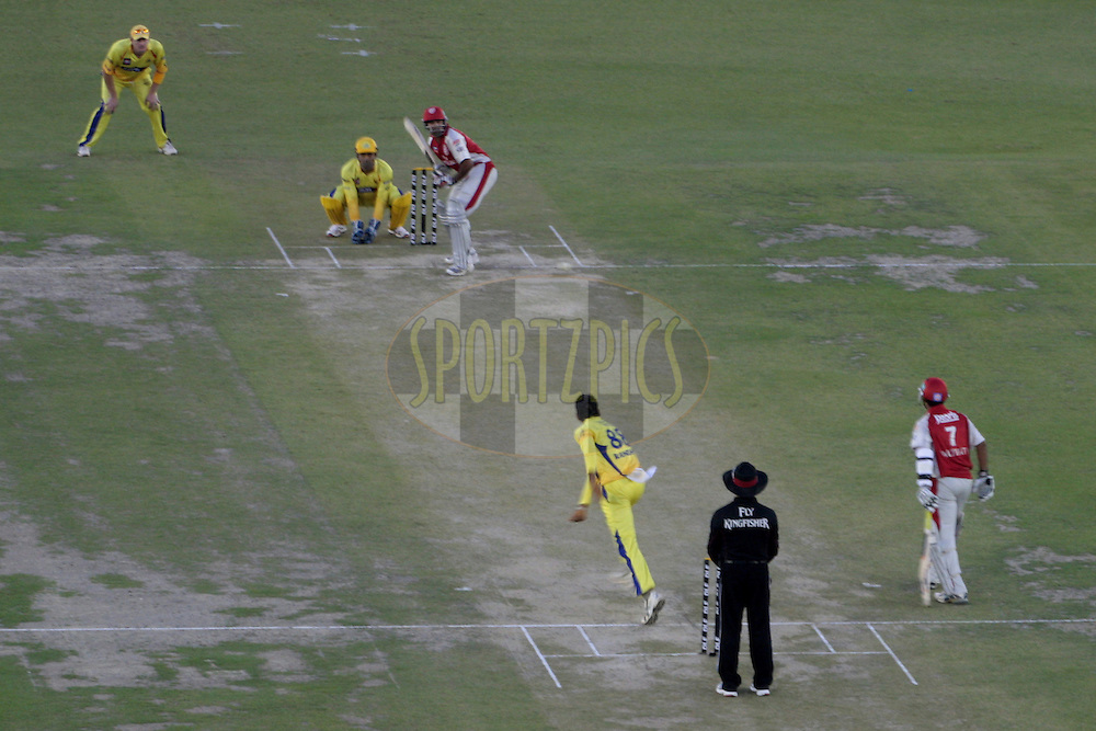 A scene during match 9 of the Indian Premier League ( IPL ) Season 4 between the Kings XI Punjab and the Chennai Super Kings held at the PCA stadium in Mohali, Chandigarh, India on the 13th April 2011..Photo by Anil Dayal/BCCI/SPORTZPICS