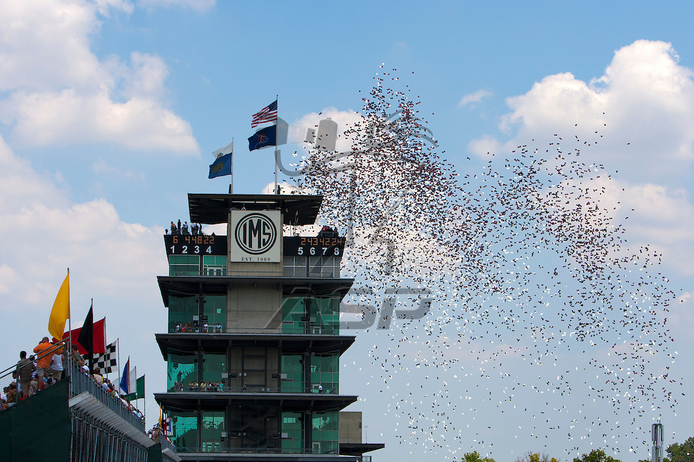 Speedway, IN  - JUL 31, 2011:  The NASCAR Sprint Cup series take to the track for the Brickyard 400 presented by BigMachineRecords.com at Indianapolis Motor Speedway in Speedway, IN.