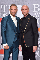 February 20, 2019 - London, United Kingdom of Great Britain and Northern Ireland - Matt Goss and Luke Goss arriving at The BRIT Awards 2019 at The O2 Arena on February 20, 2019 in London, England  (Credit Image: © Famous/Ace Pictures via ZUMA Press)