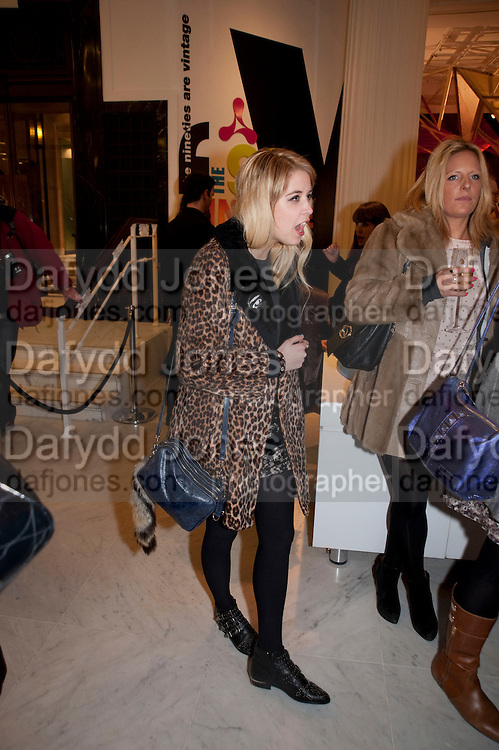 PEACHES GELDOF, The Nineties are Vintage. Concept Store, Rellik and Workit. The Wonder Room. Selfridges. Oxford St. London. 7 January 2010.