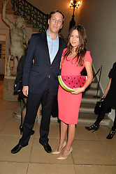 ARMIN VON LINDE and JASMINE FISHER at an evenig of Jewellery & Photography to launch the Buccellati 'Opera Collection' held at Spencer House, London on 21st October 2015.