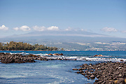 Mauna Kea as seen from Hilo Bay on the Big Island of Hawaii.