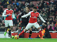 Football - 2016 / 2017 Premier League - Arsenal vs. Hull City<br /> <br /> Alex Oxlade Chamberlain of Arsenal is fouled by Tom Huddlestone at The Emirates.<br /> <br /> COLORSPORT/ANDREW COWIE