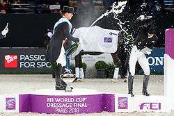 WERTH Isabell (GER), VON BREDOW-WERNDL Jessica (GER)<br /> Paris - FEI World Cup Finals 2018<br /> FEI World Cup Dressage Freestyle/Kür<br /> www.sportfotos-lafrentz.de/Stefan Lafrentz<br /> 14. April 2018
