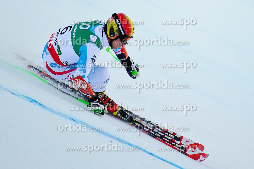 15.02.2013, Planai, Schladming, AUT, FIS Weltmeisterschaften Ski Alpin, Riesentorlauf, Herren, im Bild Marcel Hirscher (AUT) // Marcel Hirscher of Austria in  action during 1st run Mens Giant Slalom at the FIS Ski World Championships 2013 at the Planai Course, Schladming, Austria on 2013/02/15. EXPA Pictures © 2013, PhotoCredit: EXPA/ Sandro Zangrando