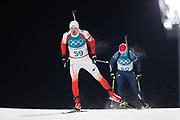 PYEONGCHANG-GUN, SOUTH KOREA - FEBRUARY 12: Grzegorz Guzik of Poland during the Mens Biathlon 12.5km Pursuit at Alpensia Biathlon Centre on February 12, 2018 in Pyeongchang-gun, South Korea. Photo by Nils Petter Nilsson/Ombrello               ***BETALBILD***