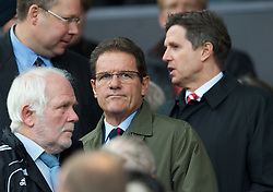 MANCHESTER, ENGLAND - Sunday, September 19, 2010: England manager Fabio Capello arrives for the Premiership match between Liverpool and Manchester United at Old Trafford. (Photo by David Rawcliffe/Propaganda)