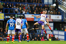 Kieffer Moore of Rotherham United heads the ball under pressure - Mandatory by-line: Jason Brown/JMP - 03/09/2017 - FOOTBALL - Fratton Park - Portsmouth, England - Portsmouth v Rotherham United - Sky Bet League Two